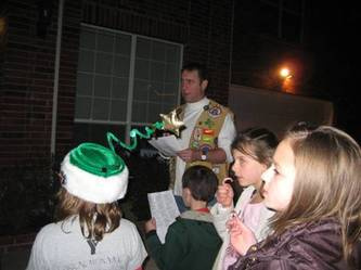 old fashioned caroling - North Fort Worth, tx and Keller Tx Father child program - Northpark YMCA Adventure Guides - Formerly Indian Guides and Princesses